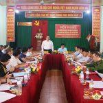 Ban thường vụ huyện ủy làm việc với Đảng ủy xã Hồng Sơn.