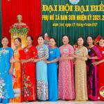 Xã Nam Sơn tổ chức Đại hội đại biểu Hội phụ nữ nhiệm kỳ 2021 – 2026