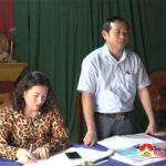 Đồng chí Hoàng Văn Hiệp – Phó bí thư, Chủ tịch UBND huyện dự sinh hoạt Chi bộ 2 xã Thái Sơn.