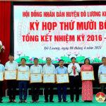 HĐND huyện Đô Lương khóa XIX kỳ họp thứ mười bốn tổng kết nhiệm kỳ 2016-2021