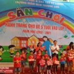 Trường mầm non xã Thượng Sơn tổ chức sân chơi hành trang cho bé 5 tuổi vào lớp 1