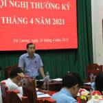 UBND huyện tổ chức hội nghị thường kỳ tháng 4 và triển khai nhiệm vụ tháng 5.