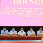 Huyện Đô Lương: Tổ chức hội nghị tiếp xúc cử tri với người ứng cử Đại biểu Quốc hội và ứng cử Đại biểu HĐND tỉnh khóa XVIII, nhiệm kỳ 2021- 2026 để vận động bầu cử