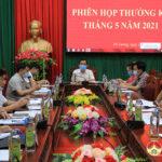 UBND huyện tổ chức hội nghị thường kỳ tháng 5 và triển khai nhiệm vụ tháng 6.