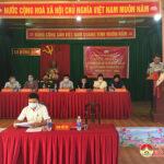 Ứng cử  đại biểu HĐND huyện khóa XX nhiệm kì 2021 -2026 tiếp xúc cử tri xã Hồng Sơn