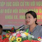 Các ứng cử Đại biểu HĐND huyện nhiệm kỳ 2021 – 2026 tiếp xúc cử tri Thị Trấn để vận động bầu cử