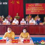 Hội nghị tiếp xúc giữa cử tri với người ứng cử đại biểu HĐND tỉnh tại đơn vị bầu cử số 21