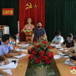Ban chỉ đạo bầu cử huyện kiểm tra công tác chỉ đạo bầu cử ở các xã, Thị trấn.