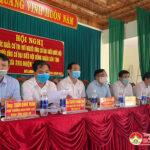 Đô Lương tổ chức hội nghị tiếp xúc cử tri với người ứng của đại biểu Quốc hội và đại biểu HĐND tỉnh.
