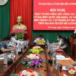 Huyện Đô Lương tổng kết công tác bầu cử Quốc hội Khóa XV và Đại biểu HĐND các cấp nhiệm kỳ 2021 – 2026