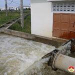 Đô Lương tập trung bơm nước chống hạn cho lúa.