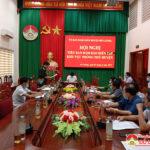 UBND huyện Đô Lương tổ chức hội nghị tiểu ban đảm bảo diễn tập khu vực phòng thủ cấp huyện năm 2021.