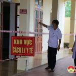Ban Chỉ đạo phòng, chống covid – 19 huyện kiểm tra các khu vực cách ly