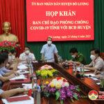 Ban chỉ đạo phòng chống Covid tỉnh họp khẩn với lãnh đạo huyện Đô Lương triển khai biện pháp phòng chống Covid 19
