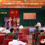 Đồng chí Hoàng Văn Hiệp – Phó bí thư, Chủ tịch UBND huyện làm việc với xã Đông sơn về tình hình phát triển kinh tế , xã hội và chương trình xây dựng nông thôn mới nâng cao