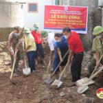 Hội chữ thập đỏ khởi công xây dựng nhà cho gia đình có hoàn cảnh khó khăn