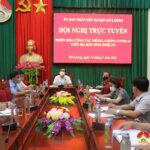 Đô Lương tham gia hội nghị trực tuyến công tác phòng chống dịch Covid – 19 do UBND tỉnh tổ chức