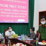 Ban chỉ đạo phòng, chống Covid huyện  tổ chức hội nghị trực tuyến triển khai các biện pháp phòng, chống Covid – 19