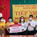 Ngân hàng nông nghiệp & Phát triển Nông thôn Chi nhánh Nam Nghệ An ủng hộ phòng chống Covid – 19 Đô lương 80 triệu đồng.