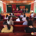 UBND huyện thẩm định kết quả xây dựng nông thôn mới xã Giang Sơn Tây.