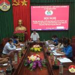 LĐLĐ huyện Đô Lương hội nghị trực tuyến quán triệt Nghị quyết số 02 của Bộ chính trị về đổi mới tổ chức và hoạt động của Công đoàn Việt Nam trong tình hình mới