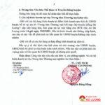 UBND huyện Đô Lương  Thông báo về việc mở cửa hoạt động Trung tâm Thương mại Đô Lương